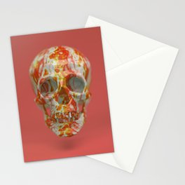 Red Candy Skull Stationery Cards
