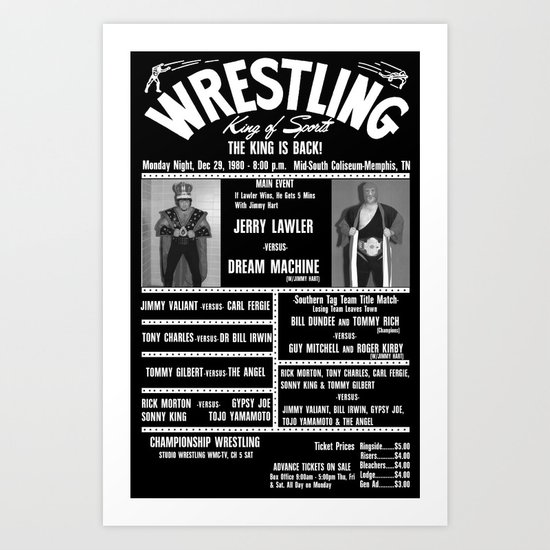 #9-B Memphis Wrestling Window Card Art Print