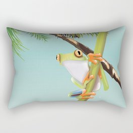 Costa Rica Tree Frog travel poster. Rectangular Pillow