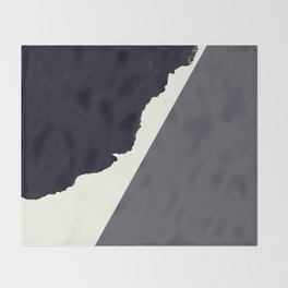 Contemporary Minimalistic Black and White Art Throw Blanket