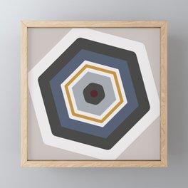 hexagon purple Framed Mini Art Print