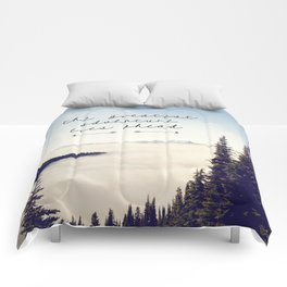 the greatest adventure- mountains Comforters