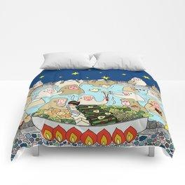 Snow Monkeys in Hot Spa Comforters