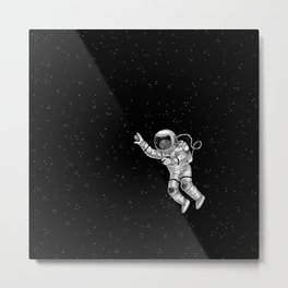 Astronaut in the outer space Metal Print