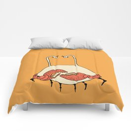 Esther the Crab Lady Comforters