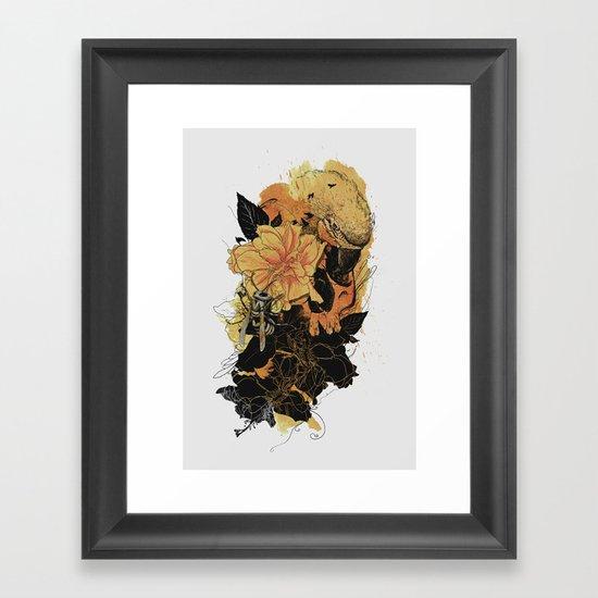 Pollination Fire Framed Art Print