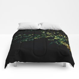 abstract flower bouquet in the moonlight Comforters