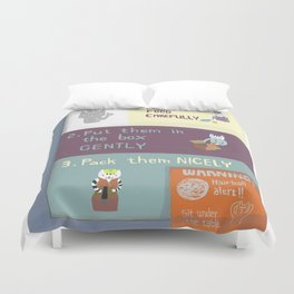 instructional safety poster Duvet Cover