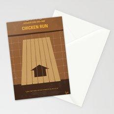 No789 My Chicken Run minimal movie poster Stationery Cards