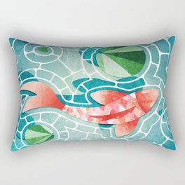 Koi Fish and Lily Pads  Rectangular Pillow