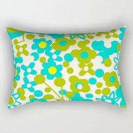 Green Flora Rectangular Pillow