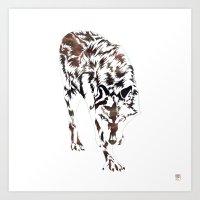hunter Art Prints featuring Hunter by Stevyn Llewellyn