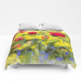 Summer Flowers Art Comforters