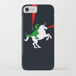 Dinosaur Riding Unicorn (With Lasers) iPhone Case
