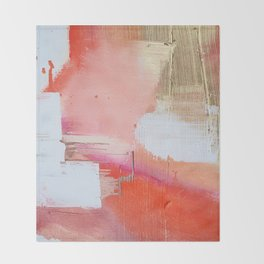 Moving Mountains: a minimal, abstract piece in reds and gold by Alyssa Hamilton Art Throw Blanket