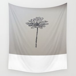 Flower Drawing Wall Tapestry