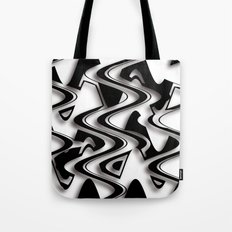 Abstraction in black and white CB Tote Bag