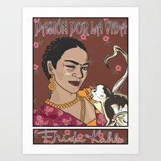 Frida- Pasión por La Vida Art Print
