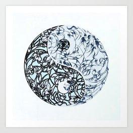 Festival yin yang Art Print