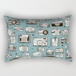 Smile action toy camera vintage photography pattern Rectangular Pillow