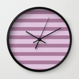Mauve Stripes Wall Clock