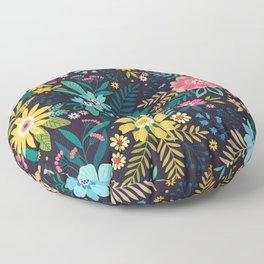 Bright floral pattern. Fantastic flowers. Floor Pillow