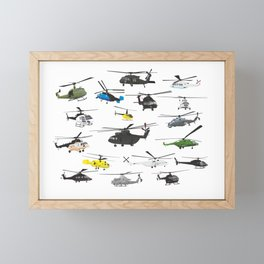 Multiple Helicopters Framed Mini Art Print