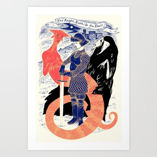 The Knight, Death, & the Devil Art Print