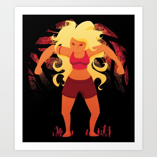 Red Giant Art Print