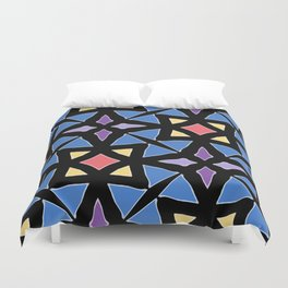 Stained Glass Color Pattern Art Duvet Cover