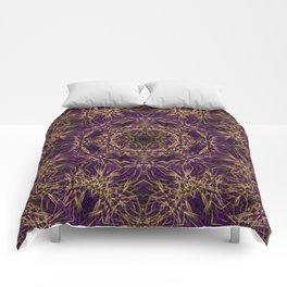 Purple Mandala Hippie Pattern Comforters