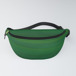Emerald Green Stripes Abstract Fanny Pack