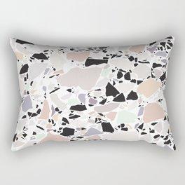 Pastel Terrazzo III. Rectangular Pillow