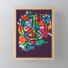 Peace & Freedom Framed Mini Art Print