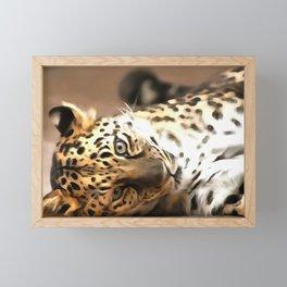 Painted Playful Predator Framed Mini Art Print