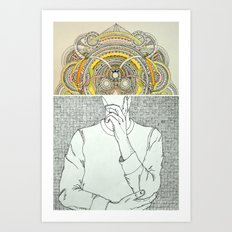 Thought Bubble Art Print