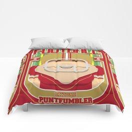American Football Red and Gold - Enzone Puntfumbler - Josh version Comforters