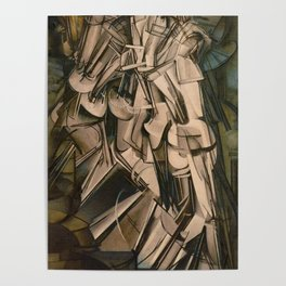 Marcel Duchamp Nude Descending A Staircase No. 2 Poster