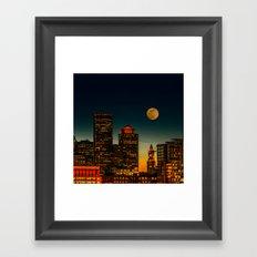 Boston Pink  Moon Framed Art Print