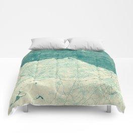 Edinburgh Map Blue Vintage Comforters
