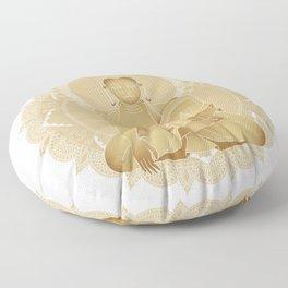 Gold buddha Floor Pillow