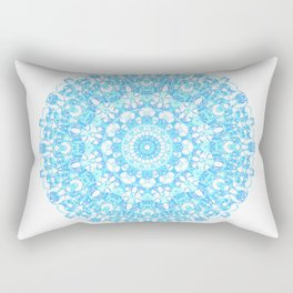 Mandala 12 / 1 eden spirit light blue turquoise Rectangular Pillow