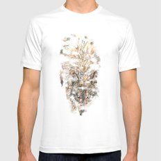 Wolf Mist MEDIUM White Mens Fitted Tee