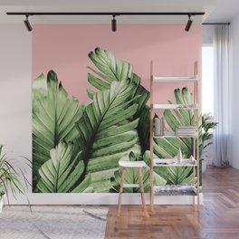 Blush Banana Leaves Dream #10 #tropical #decor #art #society6 Wall Mural