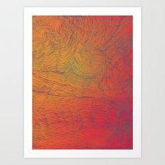 Auric Waves Art Print
