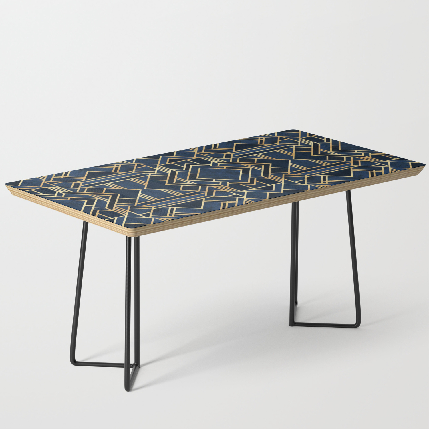 Art Deco Fancy Blue Coffee Table