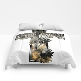 Fluid Art Cross Comforters
