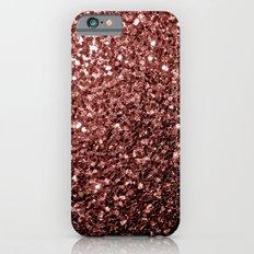 Beautiful Glam Marsala Brown-Red Glitter sparkles Slim Case iPhone 6