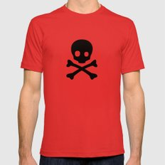 Skull Mens Fitted Tee MEDIUM Red