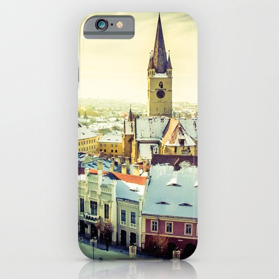 Cityscape of Sibiu, Romania iPhone & iPod Case